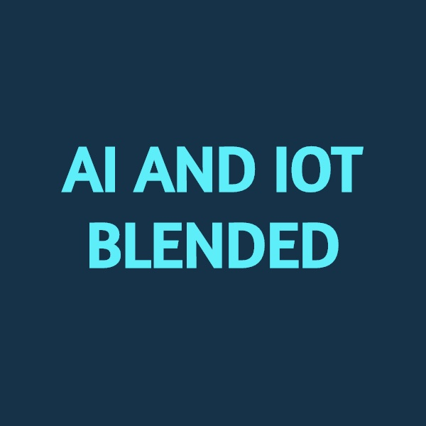 AI and IOT (Internet of Things) Blended Logo
